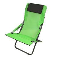 Fridani RCG 100 - Camping-Stuhl, Gartenstuhl mit Kopfpolster, 4-fach verstellbar, faltbar, 5800g