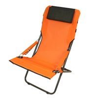 Fridani RCO 100 - Camping chair, garden chair with head cushion, 4-way adjustable, foldable, 5800g