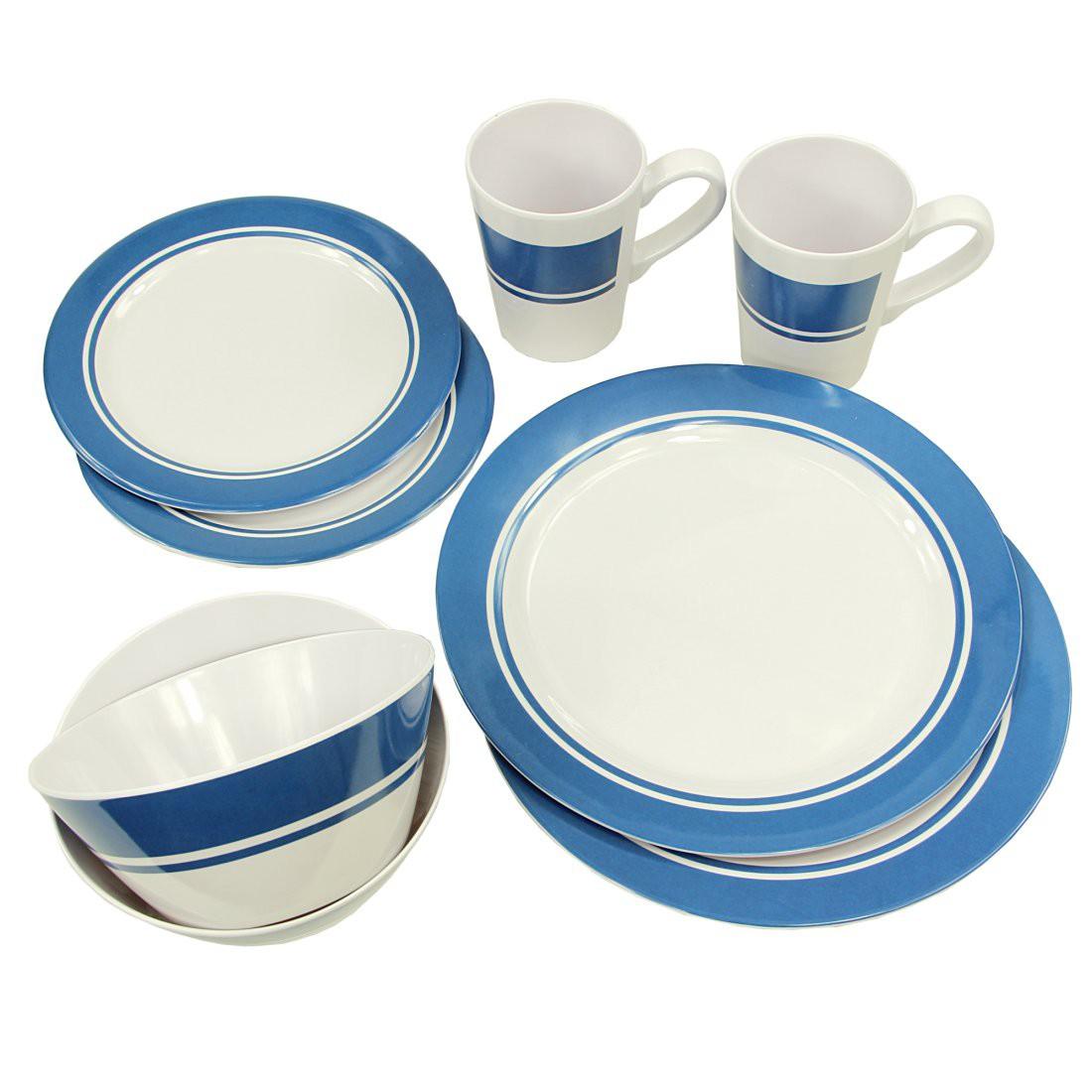 Buy Fridani MDD Dinnerware - 8 piece melamine crockery, 2 cups, 4 ...