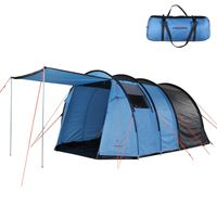 Fridani TXB 400 - 4-person tunnel tent with vestibule, 3000mm, 350x240x175 cm, 9 kg, family tent