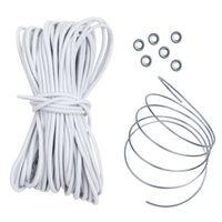 10T Shock Cord Plus - Stangengummi 13,5m x 3mm Zeltstangen Verbindungsgummi mit 76 cm Draht zum durchführen und 6