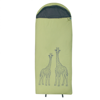 10T Giraffe - XL Children´s rectangular sleeping bag, 180x75cm, motif giraffe, warm 300g/m² filling