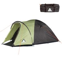 10T Scone 3 Beechnut - 3 person dome tent, camping tent with 5000 mm water column, waterproof trekking tent, festival