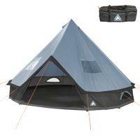 10T Tente de camping Mojave 400 Arona XXL Tente Tipi étanche Tente ronde 4-8 personnes Tente indienne Ø 4m