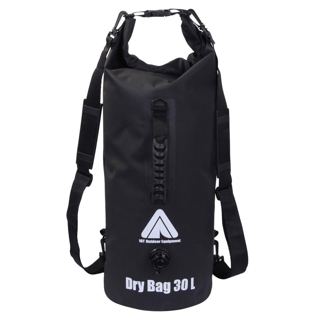 10t Dry Bag 30 L Waterproof Backpack Duffel Storage With Shoulder Straps Carrying Handle Outdoor Equipment Bags Packsacks
