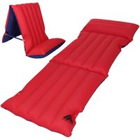 10T Ruby Sit & Lie 1 person Airbed Cotton Mattress 195x70 cm Seat-Couch Air Mattress Camping Mat