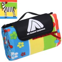 10T PicNic Zebra XL Picnic quilt 200x200 Kids fleece cover waterproof & insulated beach blanket