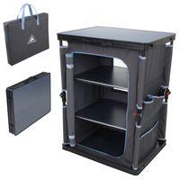 10T armario de camping Flapbox 3 compartimentos armario plegable armario de camping cocina con mecanismo de plegado