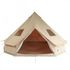 10T Desert 10 - 10 person cotton pyramid tent, sewn in ground sheet
