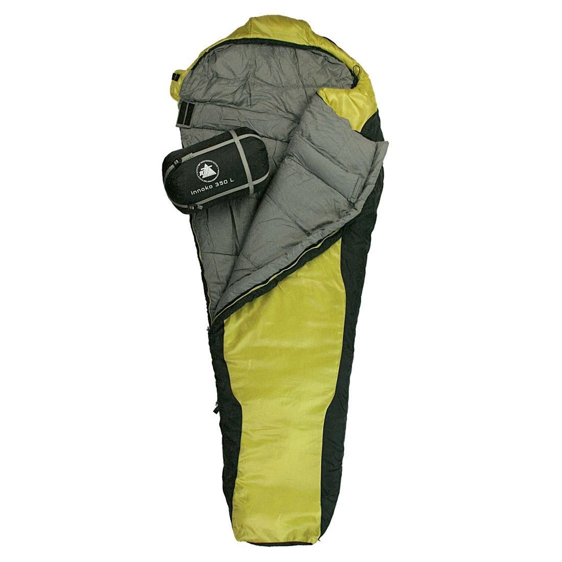 best service a7a5c 5848d 10T Innoko 350L - Single mummy sleeping bag, 215x85/55 cm, black/yellow  winter sleeping bag, up to -21°C Sleeping Sleeping bags Mummy sleeping bag