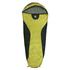 10T Yukon 225M - Einzel Mumien-Schlafsack 200x80/55cm schwarz/gelb Trekking nur 1400g bis -7°C
