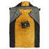10T Selawik Duo 150L - Doppel Decken-Schlafsack 215x150cm Komfortgröße mit Kapuzen-Kopfteil schwarz/orange bis -5°C