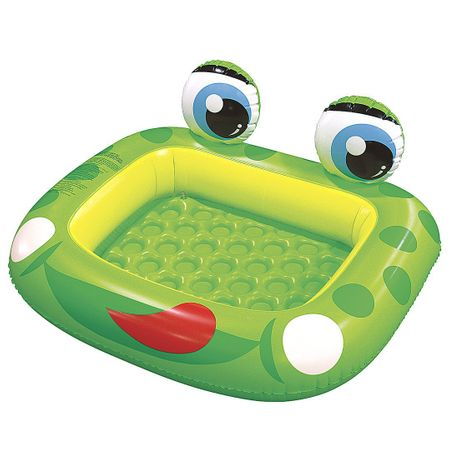 jilong frog baby pool planschbecken mit aufblasbarem boden f r kinder von 1 3 jahren. Black Bedroom Furniture Sets. Home Design Ideas