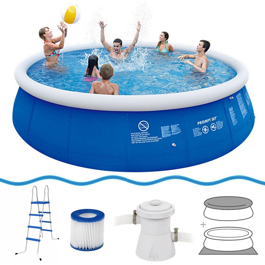 Jilong marin blue 540 set quick up pool set 540x122cm for Swimming pool ausverkauf