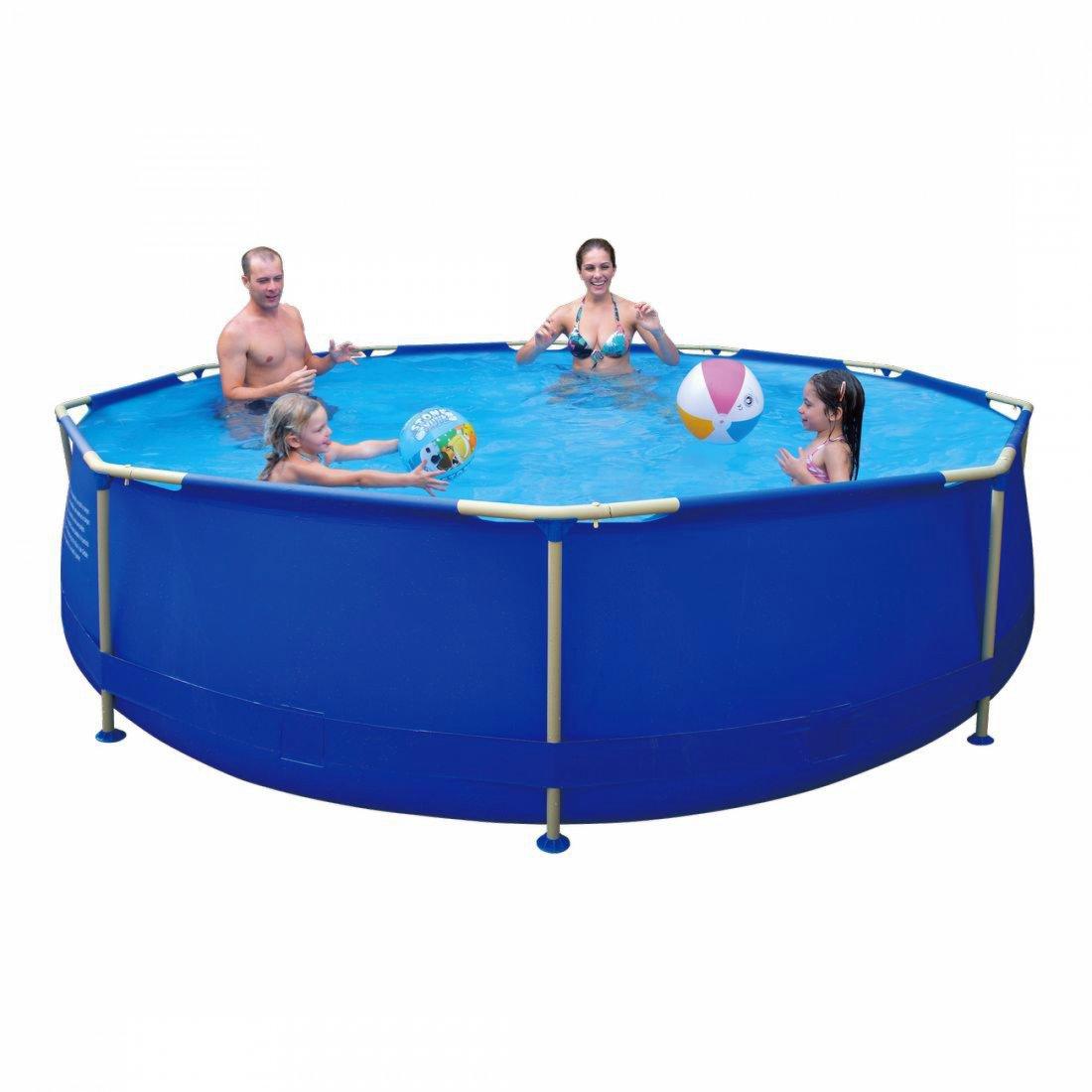 Buy Jilong Sirocco Blue 360 - steel frame pool, round pool ø360x76cm ...