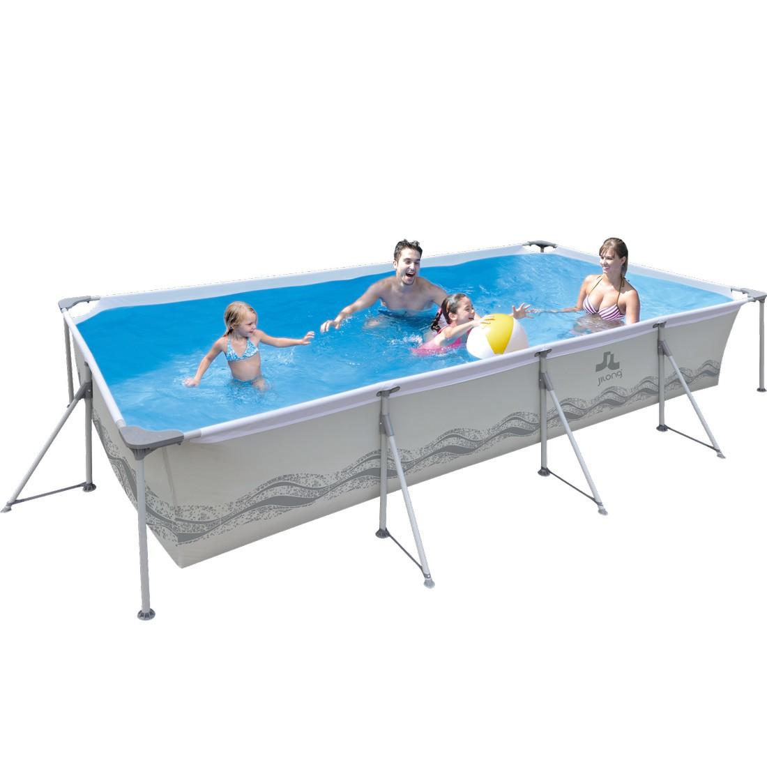 Jilong Passaat Grey 394 - steel frame paddling pool, rectangular ...