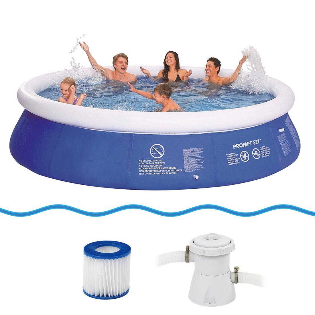 Jilong Prompt Set Pool Marin Blue 360 Set - quick-up pool set with filter  pump, 360x76cm Watersport & Pools Pools & Spas Maxi pools