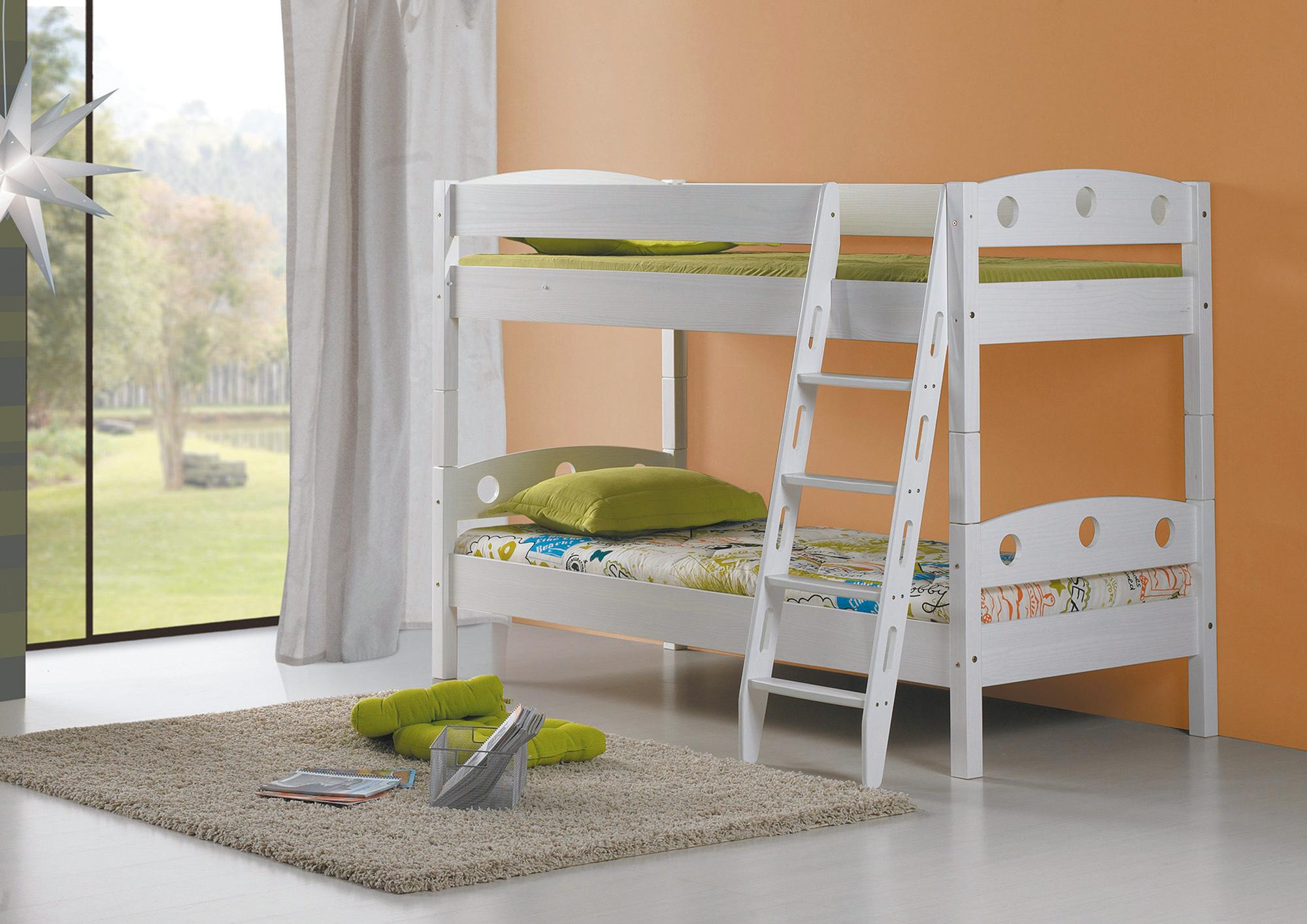 Etagenbett Kind Und Baby : Etagenbett doppelbett stockbett mit schrägleiter kenny kiefer massiv