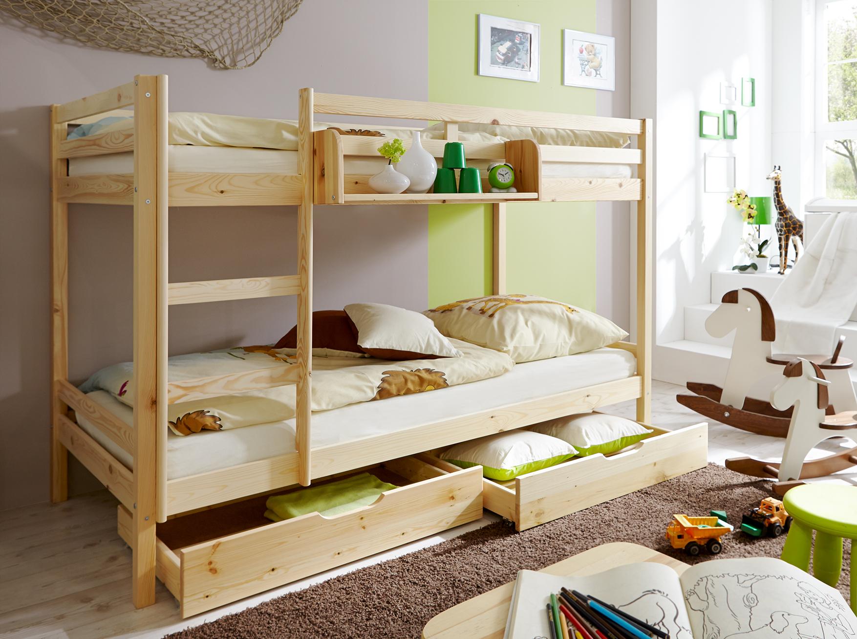 Etagenbett Nackenrolle : Etagenbett doppelbett stockbett rene kiefer massiv natur kind und baby