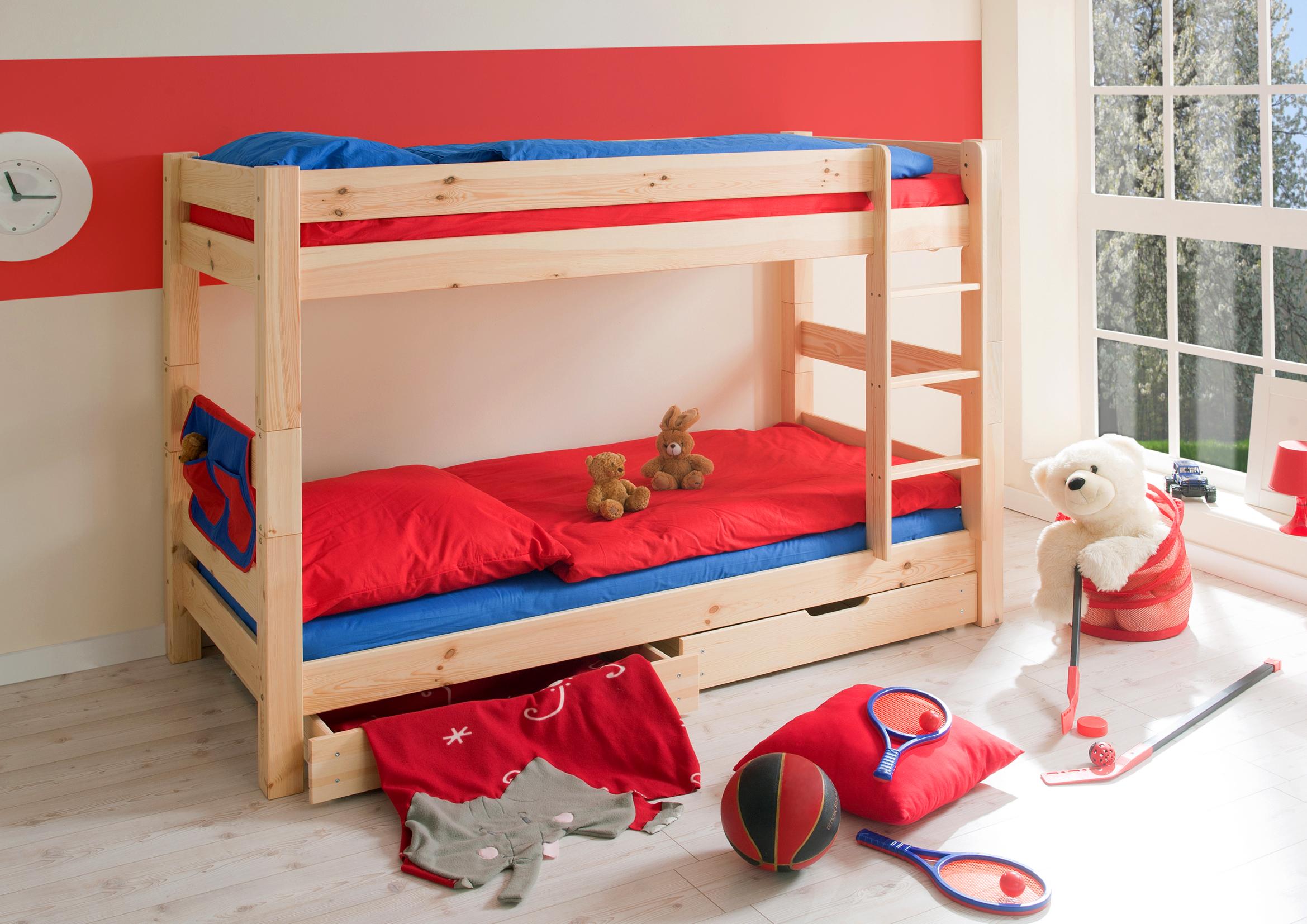 Etagenbett Kind Und Baby : Etagenbett doppelbett stockbett jan kiefer massiv natur teilbar kind
