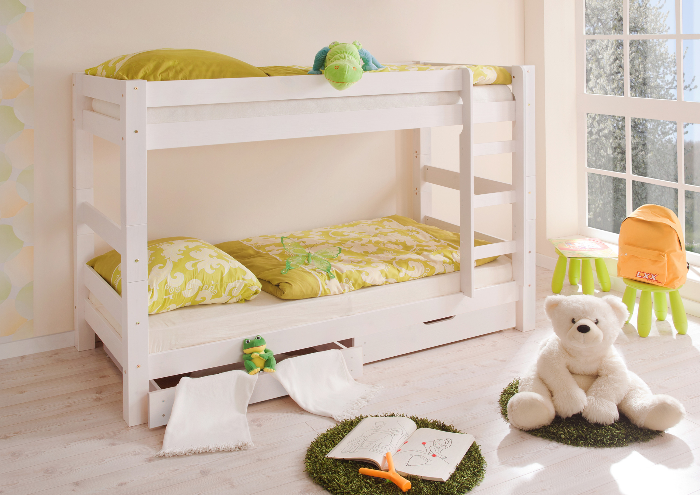 Etagenbett Kind Und Baby : Etagenbett doppelbett stockbett jan kiefer massiv weiss teilbar kind