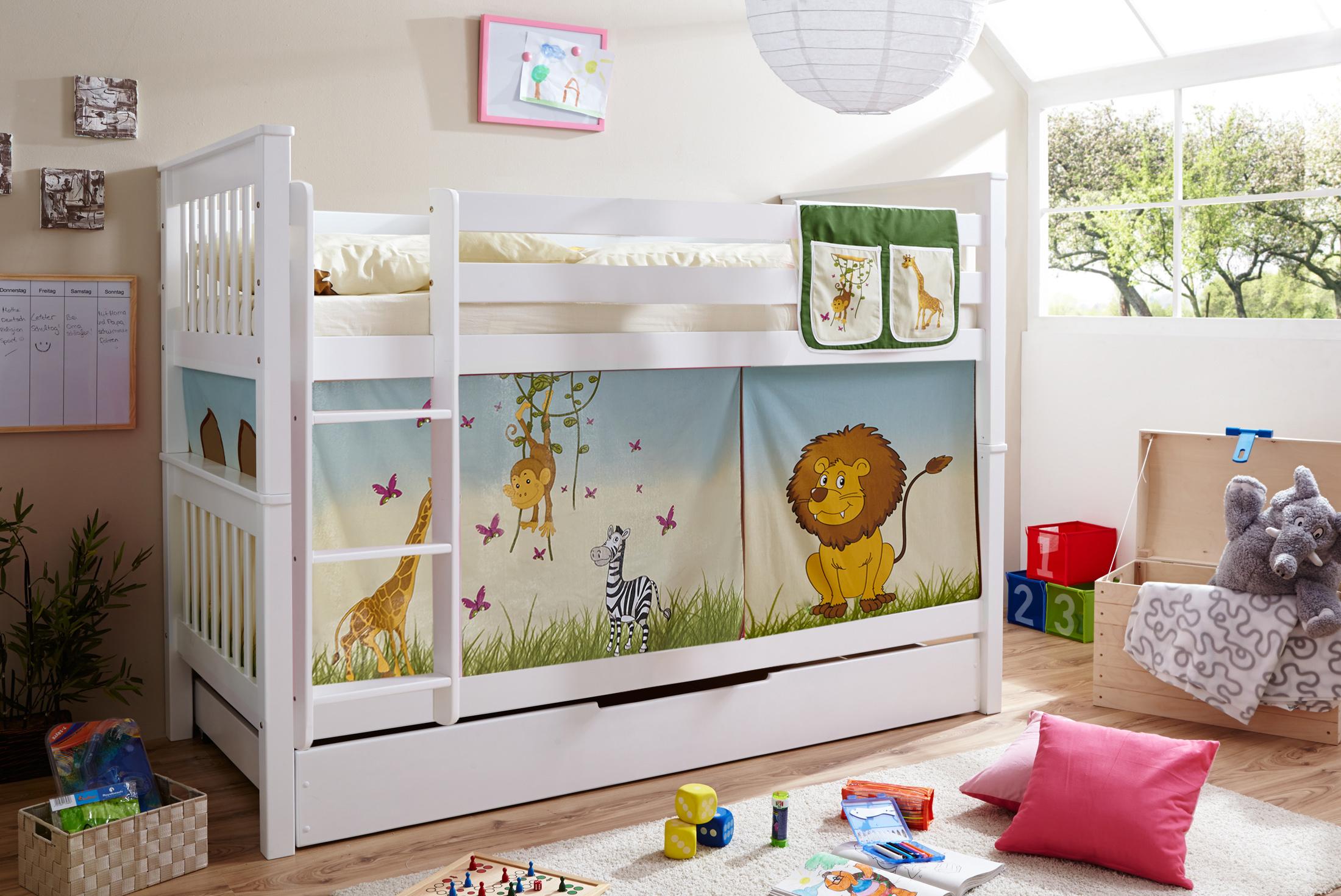 Etagenbett Unten Baby : Weisses etagenbett im kinderzimmer kinder venbuca in