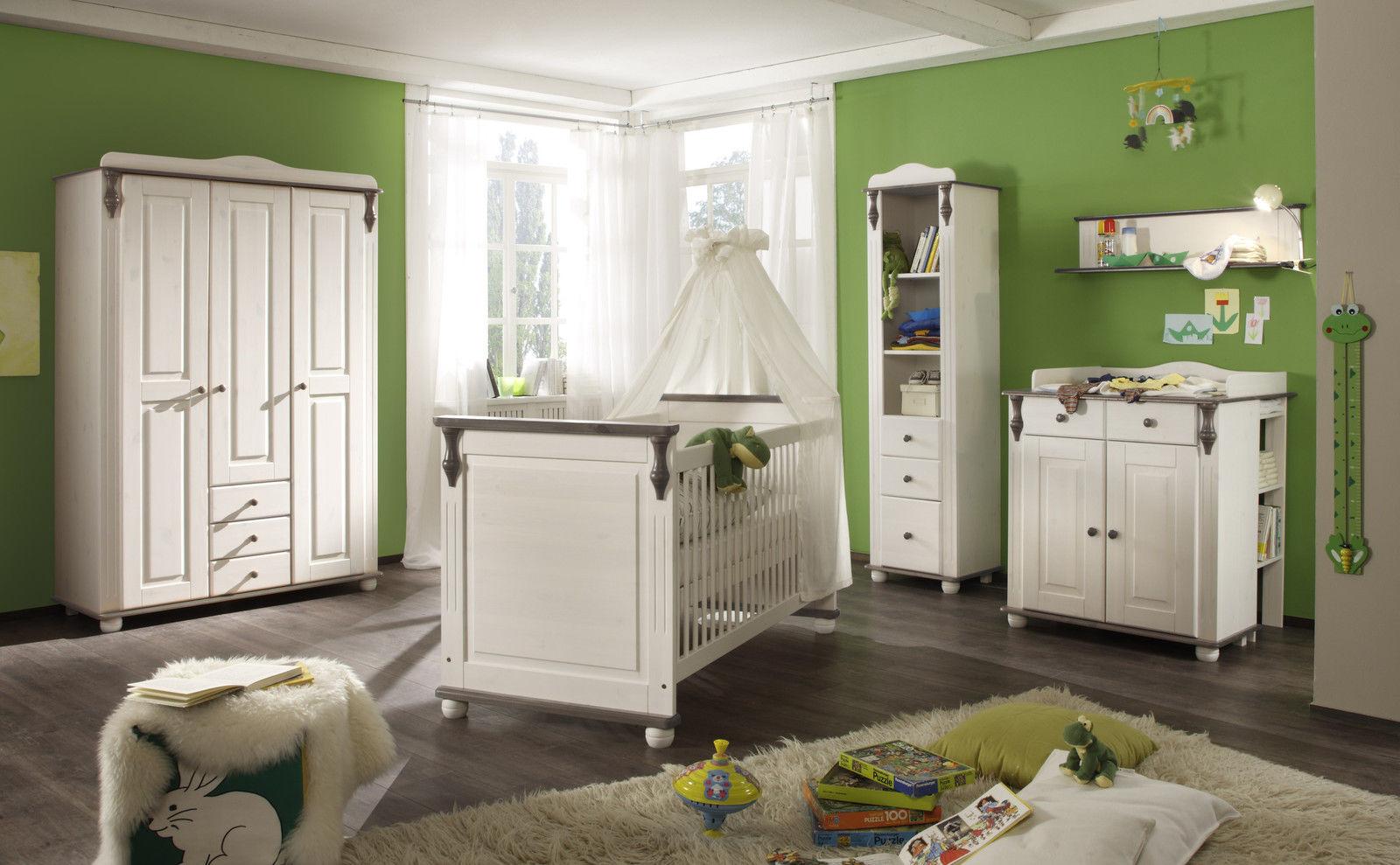 Erstaunlich Babyzimmer Massivholz Weiß Sammlung Von Lara Ii 6 Teilig Kiefer Lava Weiss