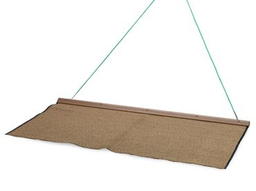 Drag net coconut, wood rail, 200 x 100 cm