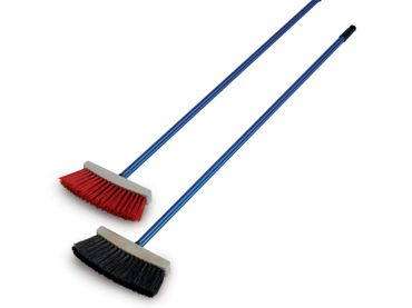 Hand broom - plastic with threaded aluminum handle