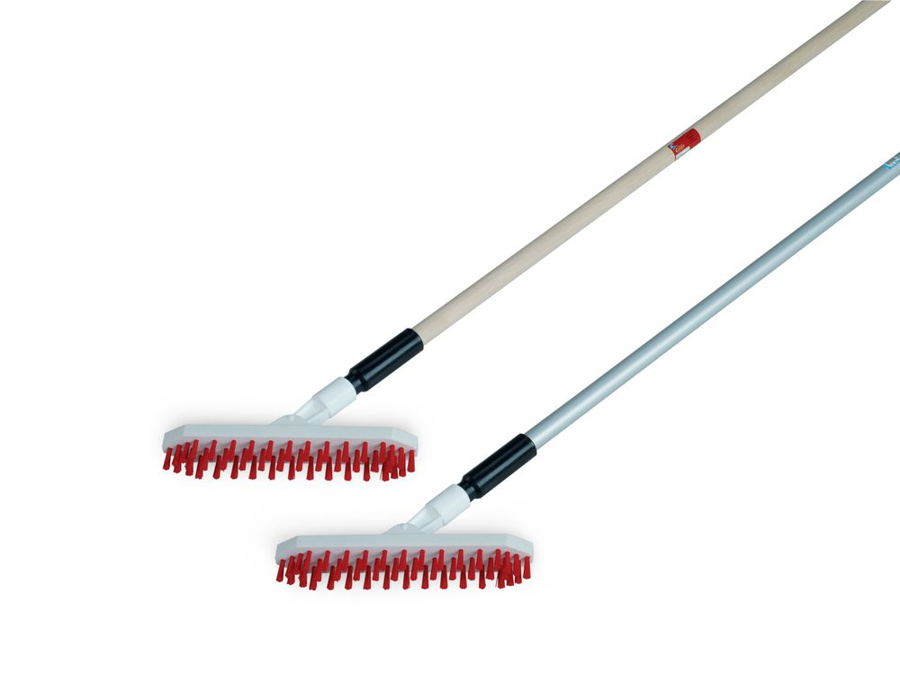 Brush Nuovo Plastic Broom With Wooden Handle