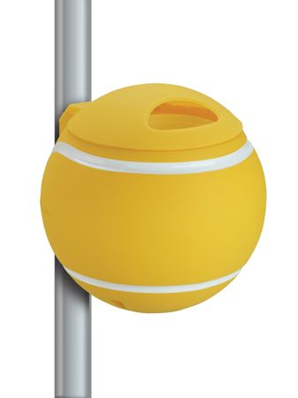 Design Papierkorb Tennisball gelb