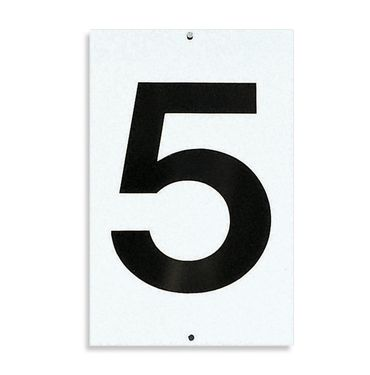 Tennis Court Numbers 1 - 9