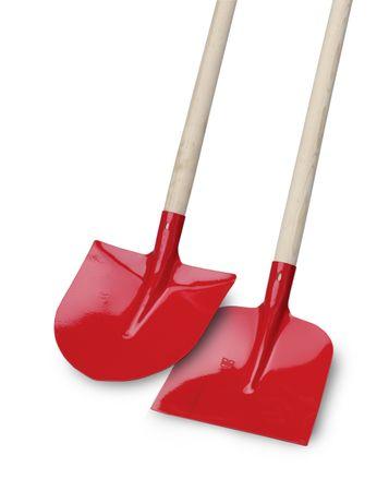 Holsteiner shovel, steel, red, straight