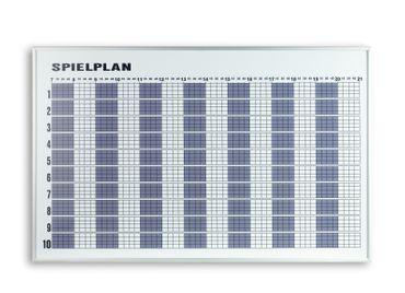 Tagesbelegungsplan 10 Plätze, 120x75 cm