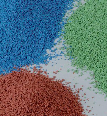 Gummigranulat 0,5 - 1,5 mm,grün (25kg)