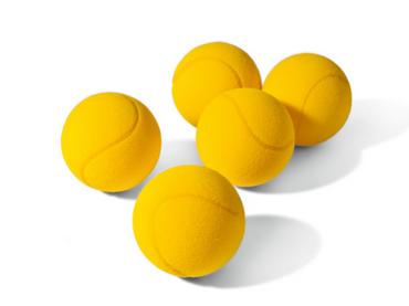 Topspin Schaumstoffball - gelb
