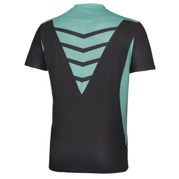 Dan Tech V-Neck Tee - anthracite/iceblue (HW17) – Bild 2