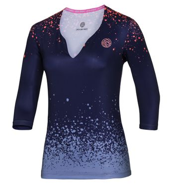 Cyra Tech V-Neck Longsleeve - darkblue/blue/orange (HW17) – Bild 1