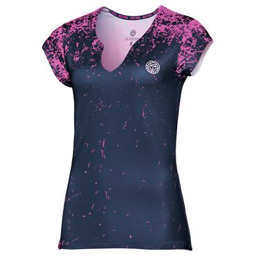 Bella Tech V-Neck Tee - darkblue/pink (FS18) – Bild 1