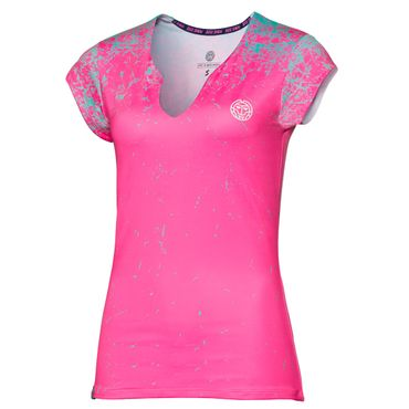 Bella Tech V-Neck Tee - pink/green (SP18) – Bild 1