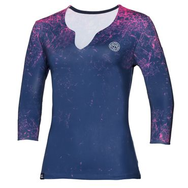 Cyra Tech V-Neck Longsleeve - darkblue/pink (SP18) – Bild 1