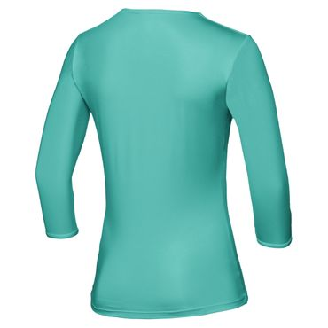 Cyra Tech V-Neck Longsleeve - green/white (SP18) – Bild 2