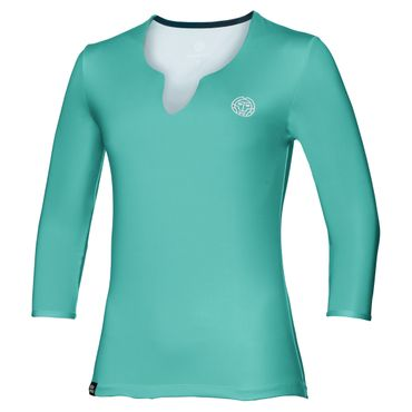 Cyra Tech V-Neck Longsleeve - green/white (SP18) – Bild 1