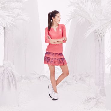 Liza Tech Skort - coral/darkblue (SP18) – Bild 4