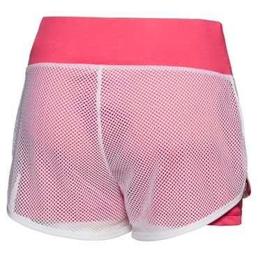 Efia Tech 2in1 Shorts - white/coral (SP18) – Bild 2