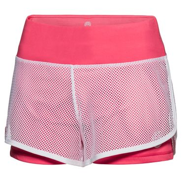 Efia Tech 2in1 Shorts - white/coral (FS18) – Bild 1