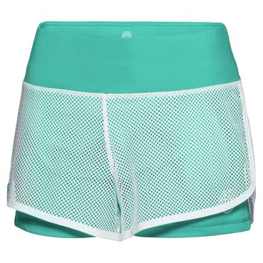 Efia Tech 2in1 Shorts - white/green (FS18) – Bild 1