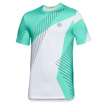 Eris Tech Round-Neck Tee - white/green/black (FS18) – Bild 1