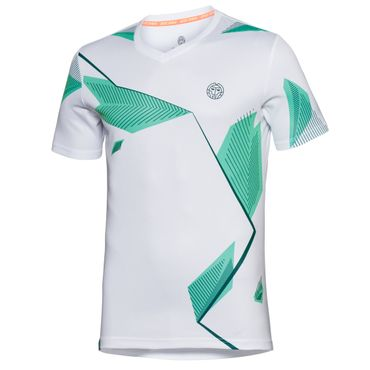 Imany Tech V-Neck Tee - white/green/black (FS18) – Bild 1