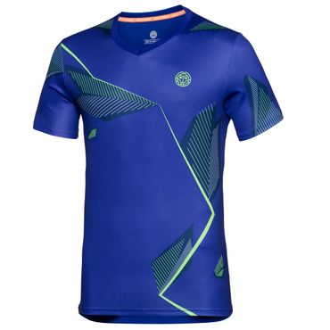 Imany Tech V-Neck Tee - blue/icegreen/neonorange (SP18) – Bild 1
